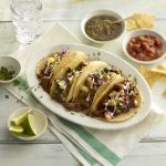 beef tacos with enchilada sauce