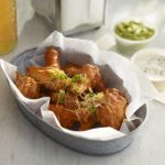 wings with enchilada sauce