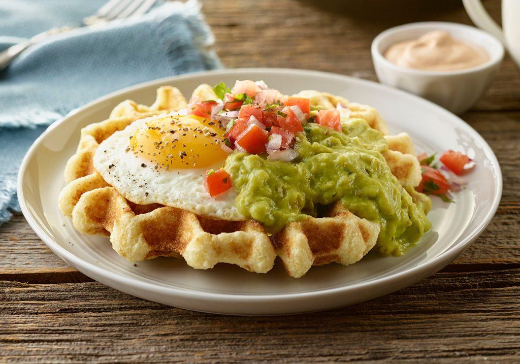 cornmeal_waffle_with_guacamole