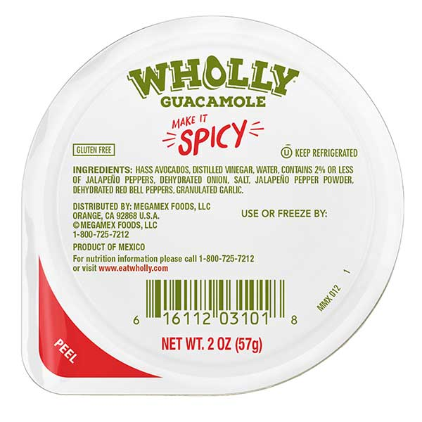 Wholly Guacamole spicy mini snack pack