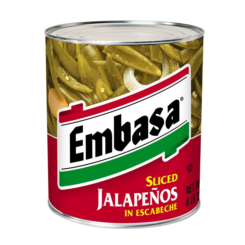 Embasa Sliced Jalapenos in Escabeche in can